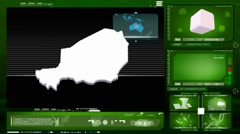 Niger - computer monitor - green 0 Stock Footage