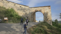 Second gate at Rasnov Citadel Stock Footage