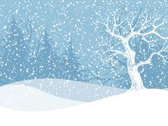 Stock Illustration of Winter landscape