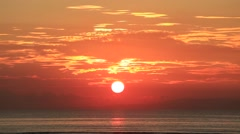 Wonderful sunrise on the beach in Sanur. The island of Bali, Indonesia Stock Footage