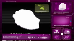 Reunion island - computer monitor - pink 0 Stock Footage
