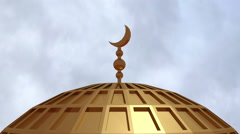 Mosque roof islamic center CG 2 Stock Footage