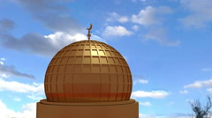Mosque roof islamic center CG Stock Footage