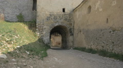 Gate of the Rasnov Citadel Stock Footage