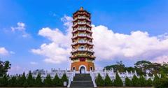Pa Cien Pagoda Stock Footage