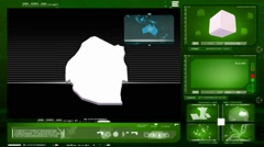 Swaziland - computer monitor - green 0 Stock Footage