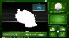 Tanzania - computer monitor - green 0 Stock Footage
