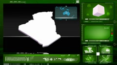algeria - computer monitor - green 0 - stock footage