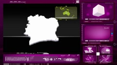 Ivory coast - computer monitor - pink 0 Stock Footage