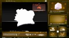 Ivory coast - computer monitor - yellow 0 Stock Footage
