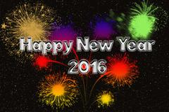 happy new year silver fonts - stock illustration