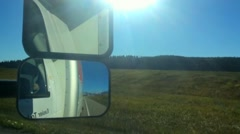 Forward Moving Hyperlapse from First Person View on Road - stock footage