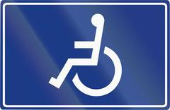 Stock Illustration of Slovenian road sign - Disabled parking