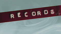 Records label concept record Stock Footage