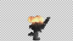 Stock Video Footage of  bomb explosion rendered in PNG with alpha channel