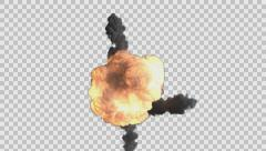 bomb explosion rendered in PNG with alpha channel Stock Footage