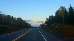 Forward Moving Hyperlapse from First Person View on Road Stock Footage