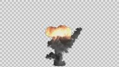 bomb explosion rendered in PNG with alpha channel - stock footage