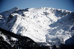 Snowy peak in Canfranc Valley, Aragon, Huesca, Spain. Stock Photos