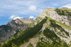Rioseta Mountains in Pyrenees, Canfranc Valley, Aragon, Huesca, Spain - stock photo