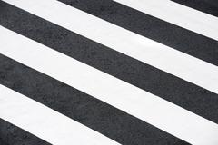 Zebra crossing without anyone crossing it - stock photo