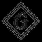 Vector illustration of letter G. Fonts of Mesh polygonal. The structural grid of Stock Illustration