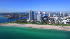 Aerial Miami city shoot.  - stock footage