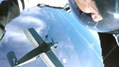 Accelerated free fall (AFF course) lessons in drop zone Chayka, Kyiv region. - stock footage