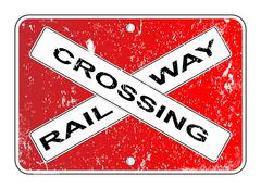 Railway Crossing Sign Piirros