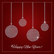 Rhinestone Holiday Season Template Stock Illustration