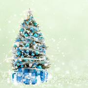 Christmas tree from the xmas lights Kuvituskuvat
