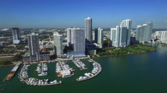 Aerial Miami construction Stock Footage