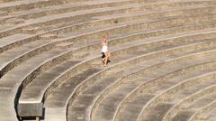 Tourists visit amphitheater in Casa de Campo, Dominican Republic. Stock Footage