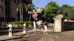 Tourists visit Casa de Campo, Dominican Republic. Stock Footage