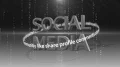 Social media networking_connection backgorund COLORLESS Stock Footage