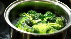 Pieces of broccoli Stock Footage