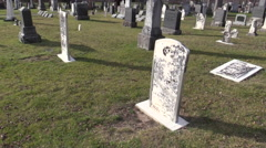 Graves of Our Forefathers Stock Footage