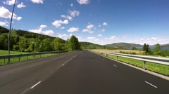 Driving a Car on a Road in Norway Time laps - stock footage