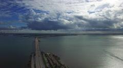 Aerial video Brickell Bay Miami. Stock Footage