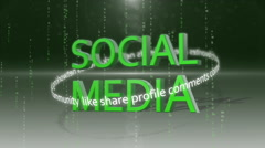Social media networking_connection backgorund GREEN Stock Footage