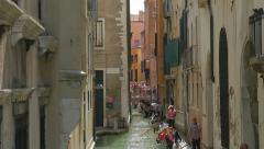 Gondolas on Venice canals, Italy. 4k UHD - stock footage