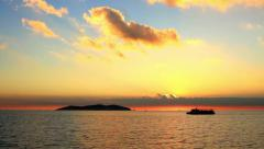 Marmara sea during sunset in Istanbul, Turkey. Static camera, 30 sec. 30 fps.  Stock Footage
