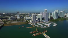 Aerial video Downtown Miami omni Stock Footage