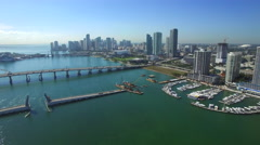 Aerial video Downtown Miami Stock Footage