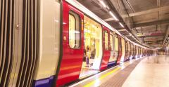 Tube in London, UK. Stock Footage