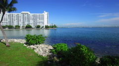 Aerial video Edgewater Miami Stock Footage