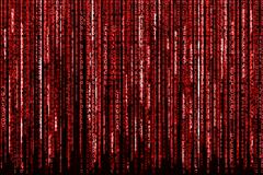 Red Binary Code Stock Illustration