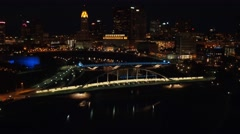 COLUMBUS DOWNTOWN RIVERFRONT_AERIAL_4 Stock Footage