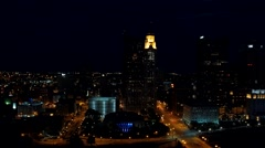 COLUMBUS DOWNTOWN RIVERFRONT_AERIAL_12 Stock Footage