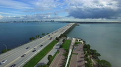 Aerial video Key Biscayne FL. Stock Footage